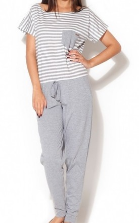 Grey Jumpsuit with Striped Top by KATRUS