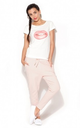 Light Pink Tracksuit Trousers by KATRUS