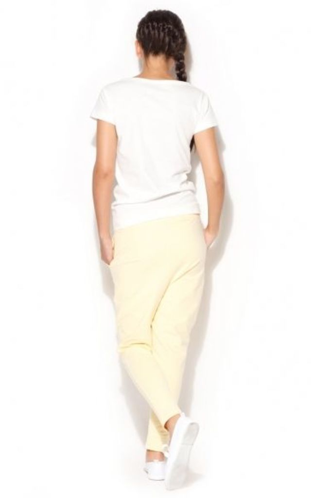 Light Yellow Tracksuit Trousers by KATRUS