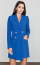 Blue Dress / Jacket With Decorative Buttons by FIGL