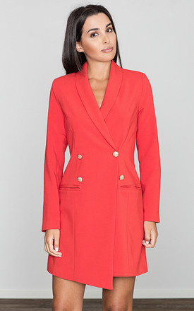 Red Dress / Jacket With Decorative Buttons by FIGL