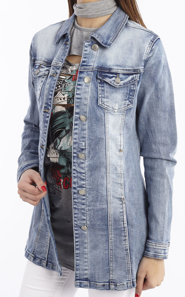 Long Sleeve Denim Shirt/Jacket by Npire London