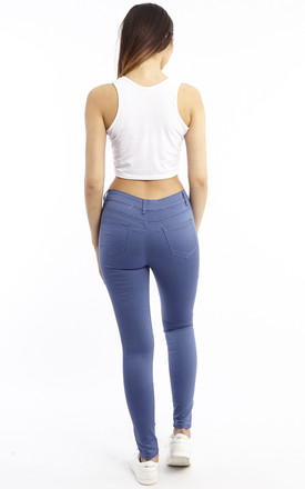 Mid Rise Slim Fit Jeans - Blue by Npire London