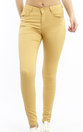 Mid Rise Slim Fit Jeans - Mustard by Npire London