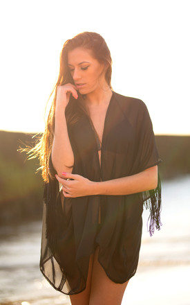 Black Poca Kaftan by Natasha Kieran Product photo