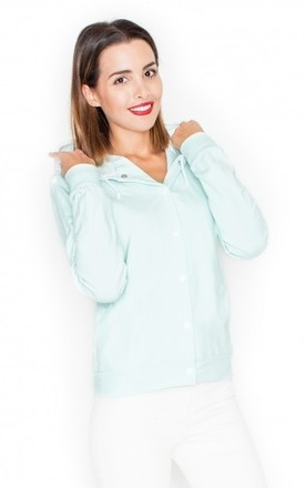 Light Mint Fastening Hoodie by KATRUS