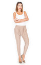 Beige Loose Trousers by KATRUS