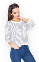 Classic stripe top in grey/white by KATRUS