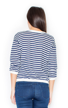 Classic stripe top in blue/white by KATRUS
