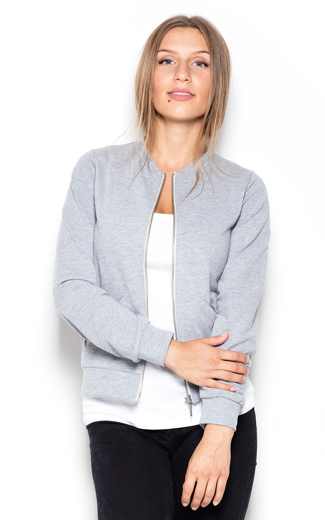 Grey Zipper Sweatshirt by KATRUS