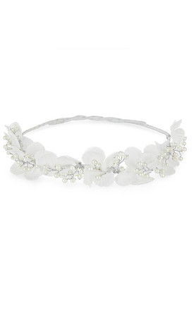 Johnny Loves Rosie White Flower Bridal Hair Vine by Johnny Loves Rosie
