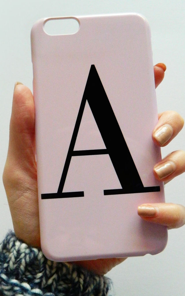 Dusty Pink Letter Phone Case by Rianna Phillips