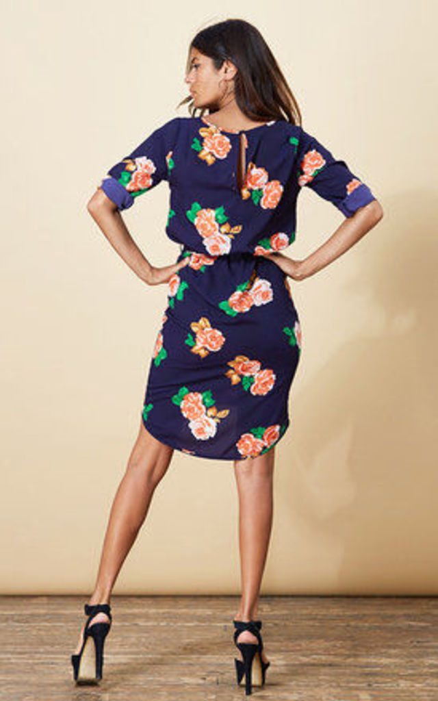 Chiquita Dress in Navy Rose image