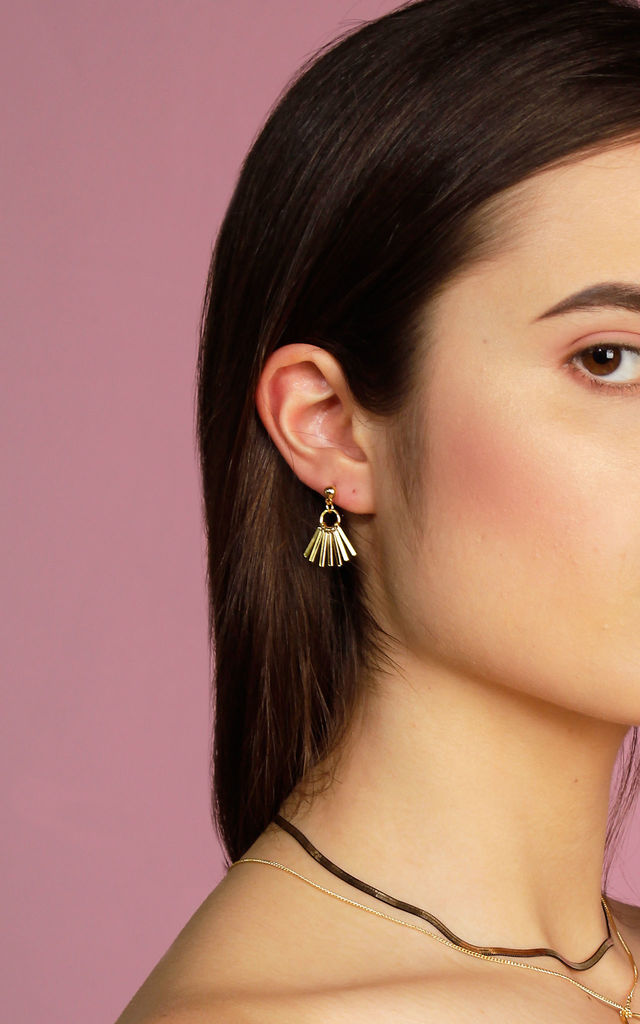 Metal Tassel Earrings Gold by DOSE of ROSE