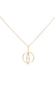 Double Hoop With Pearl Pendant Rose Gold by DOSE of ROSE