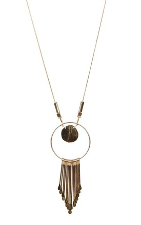 OLIA JEWELLERY Long Gold Kiran Necklace by Olia Jewellery