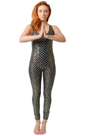 Black Geisha Mermaid Catsuit by Tirade 13