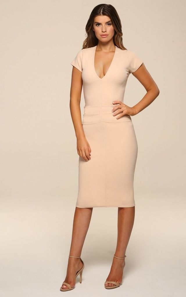 Kelsey Blush Midi Dress by Honor Gold