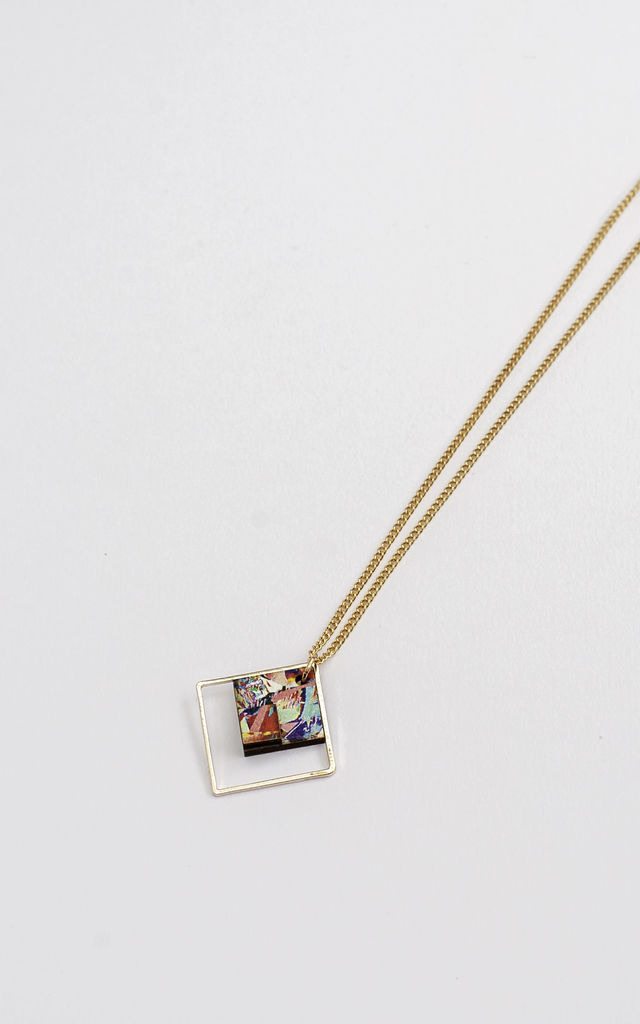 of lato montana photo necklace gold square house pm products