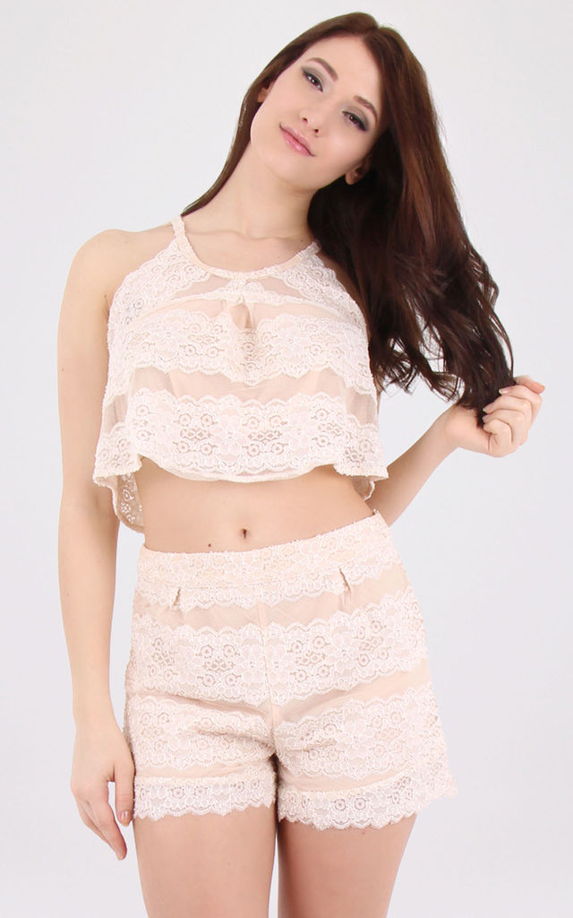 Lace Floral Co-ord Set Pink by MISSTRUTH