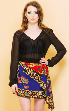 Fight For This Floral Cotton Skirt by KITES AND BITES Product photo