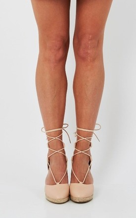 Nude strappy wedge by Truffle Collection