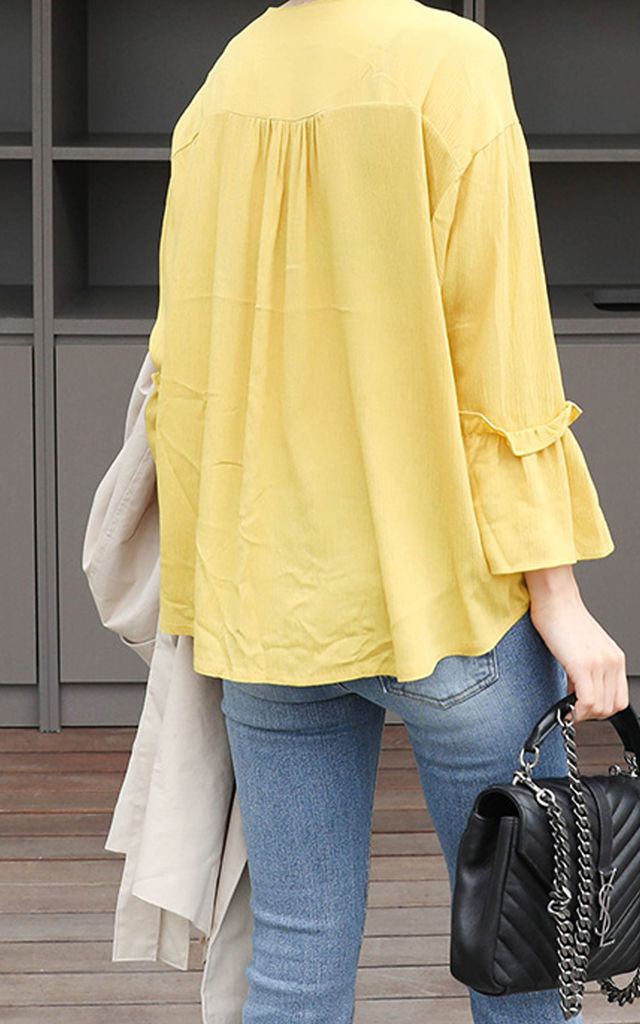 Oversized Frill Blouse by Sunday Seoul