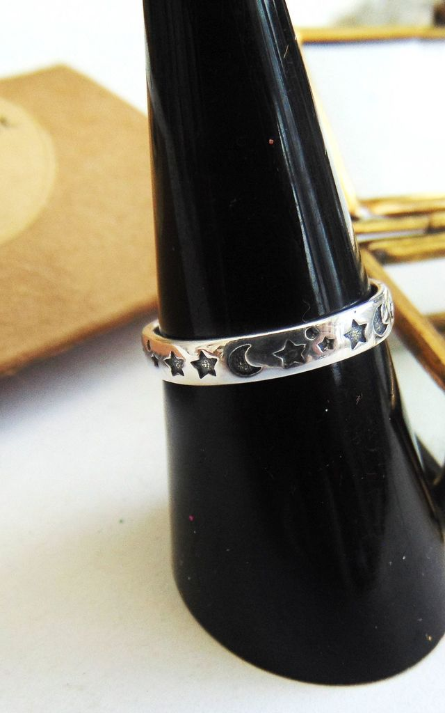 Sky Full Of Stars Sterling Silver Ring by Wanderdusk