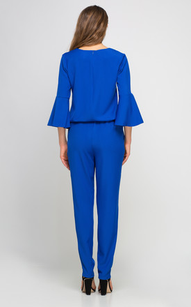 Bell Sleeve Jumpsuit In Royal Blue by Lanti