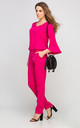 Bell Sleeve Jumpsuit In Pink by Lanti