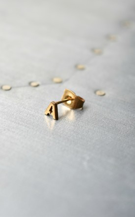 Little Letter A earring by Whistle & Bango