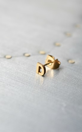 Little Letter D Earring by Florence London Product photo