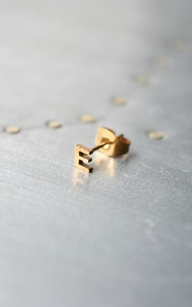 Little Letter E Earring by Florence London Product photo