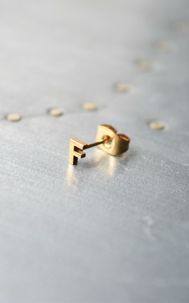 Little Letter F Earring by Florence London Product photo
