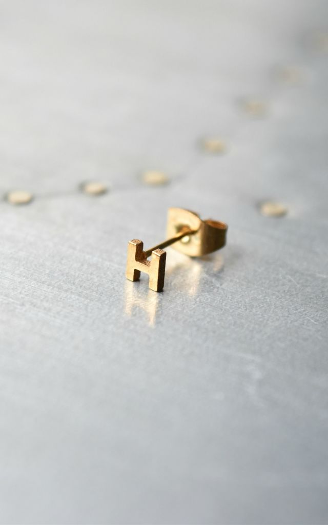 Little Letter H Earring by Florence London