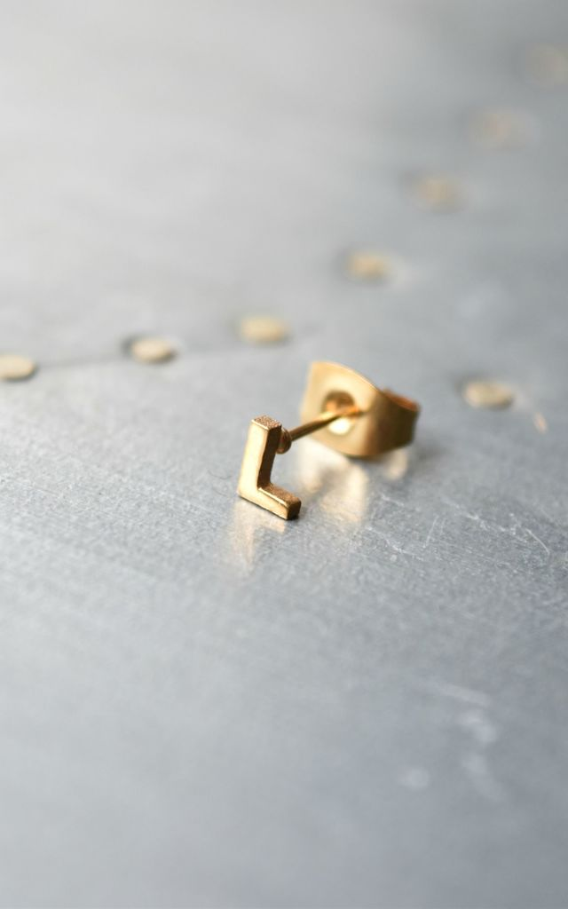 Little Letter L Earring by Florence London