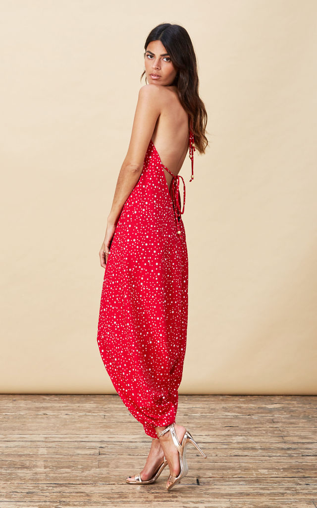 Genie Jumpsuit in Red Star image