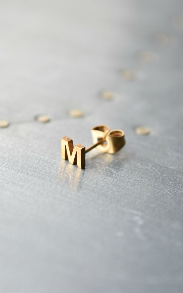 Little Letter M Earring by Florence London