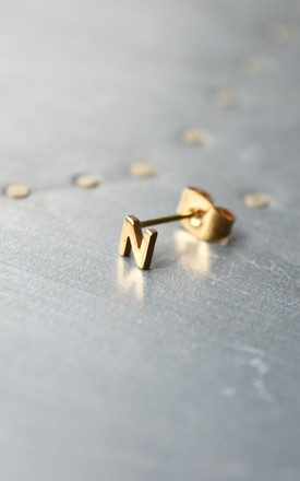 Little Letter N Earring by Florence London