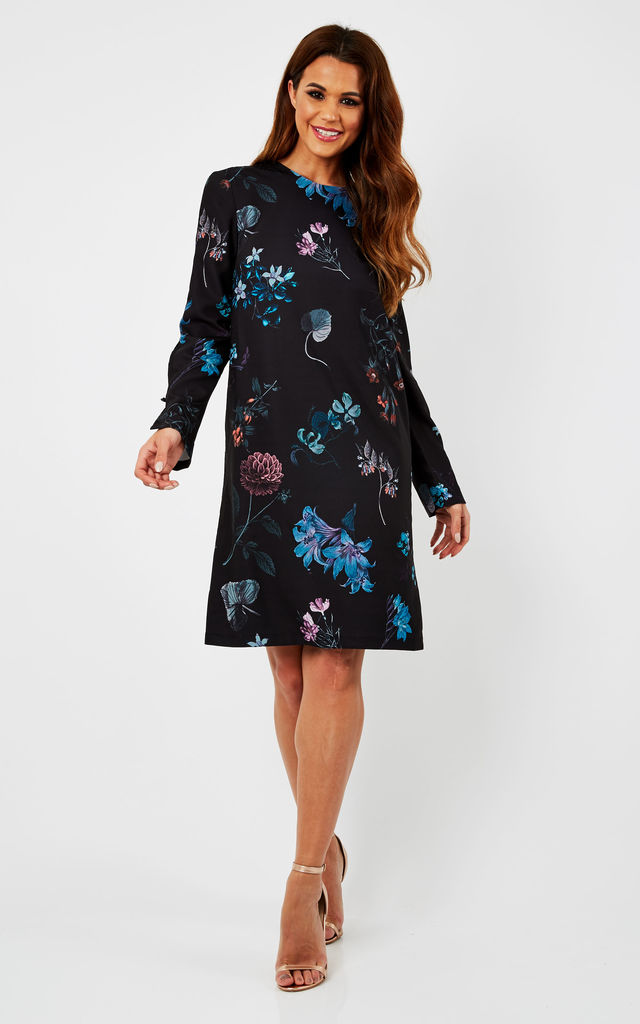 Floral Print Shift Dress by URBAN TOUCH