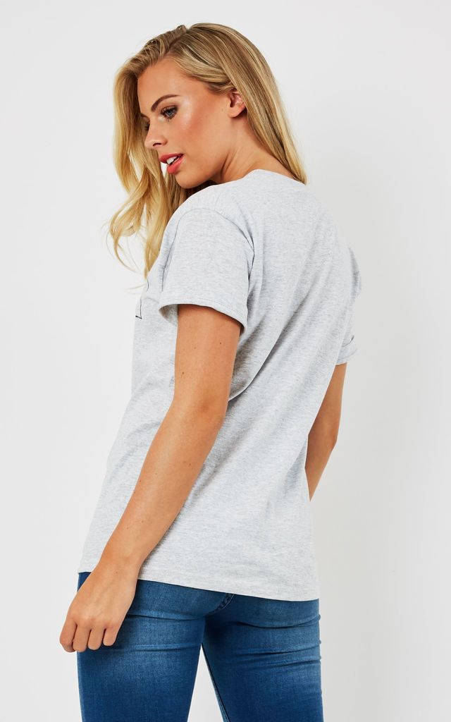 Fashionably Late Grey Slogan Tee by Love