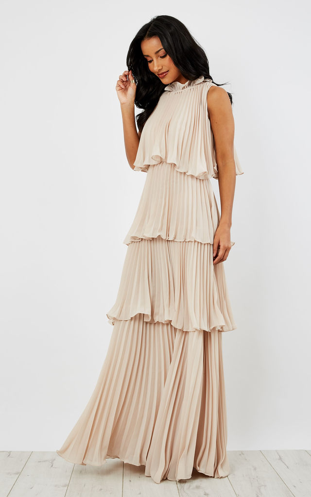 Layered Ruffle Sleeveless Maxi Dress Silkfred