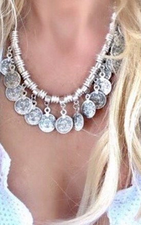 Silver Florence coin necklace by Lovelock jewels