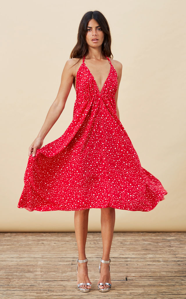 Boho Maxi Red Star image