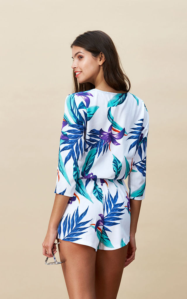 Tiago Playsuit in White Tropical image
