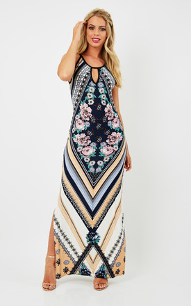 Tory – Diamond Floral Print Maxi Dress Navy by Blue Vanilla Product photo