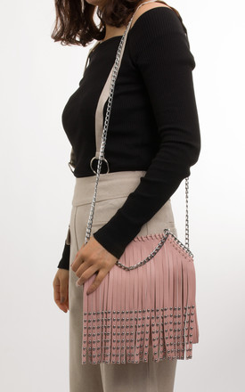 Alesha Faux Leather Shoulder Bag In Pink by KoKo Couture