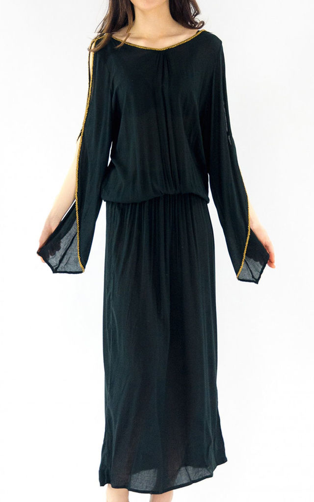 The Barefoot Aphrodite Maxi - Black by House of Dharma