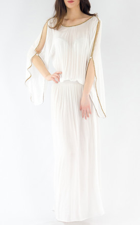 The Barefoot Aphrodite Maxi - White by House of Dharma