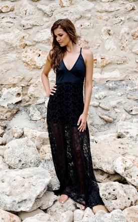 The Wanderlust Maxi - Black by House of Dharma